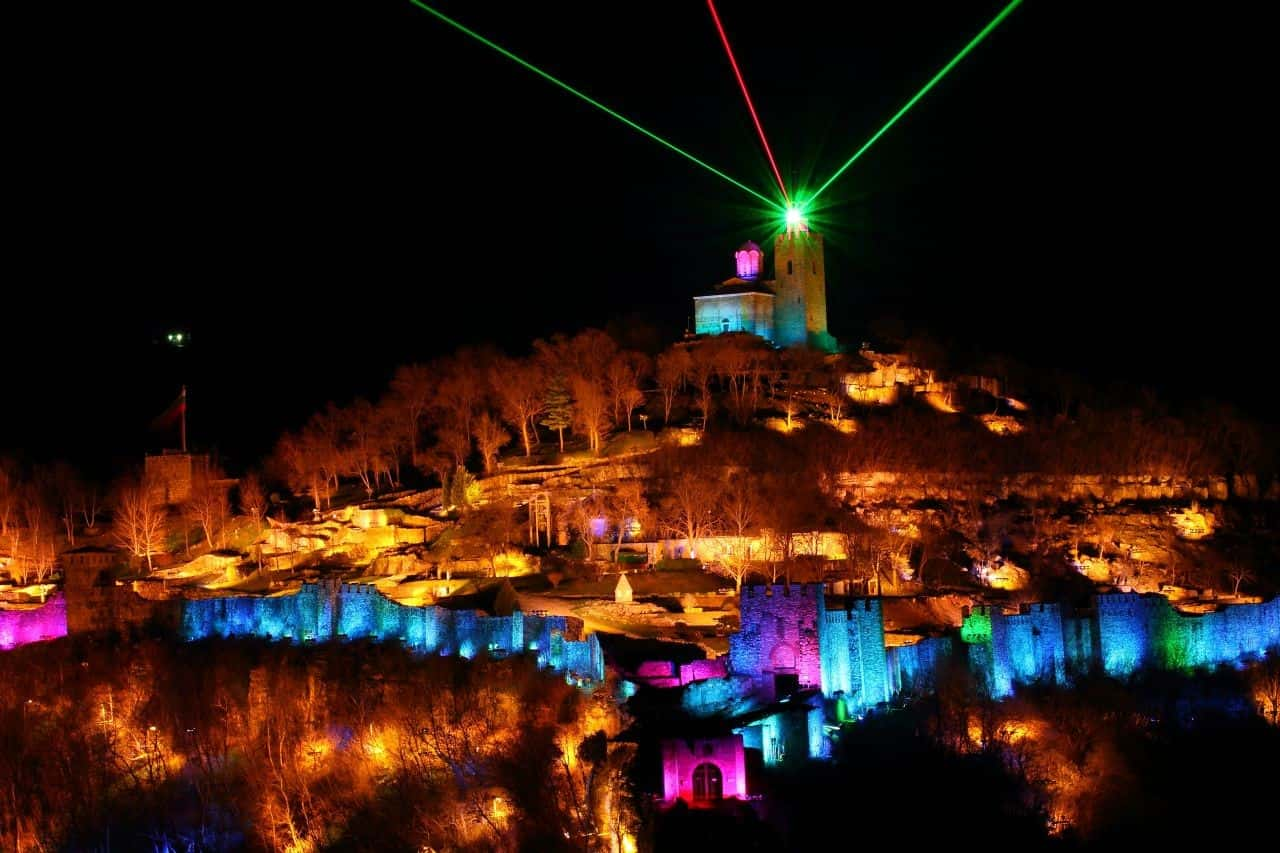 Sound and light show at Tsarevets fotress in Veliko Tarnovo